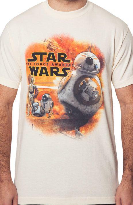 Star Wars Force Awakens Droids T-Shirt