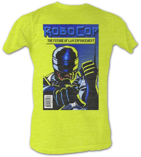 Robocop T-Shirt - The Future Adult Neon Yellow Tee Shirt
