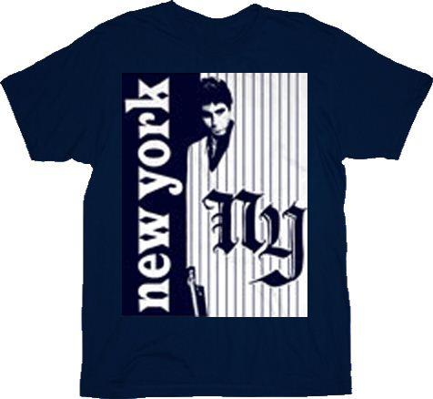 Scarface NY New York Logo Navy Adult T-Shirt