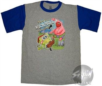 c1b64e46d ... Spongebob Squarepants 789th Annual Kickball Challenge Gray Youth T-Shirt