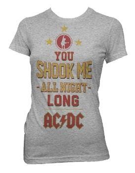AC/DC Shook Me All Night Long Women's T-Shirt