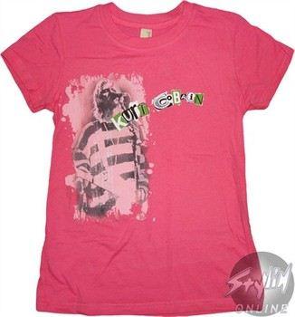 Nirvana Kurt Cobain Pink Baby Doll Tee