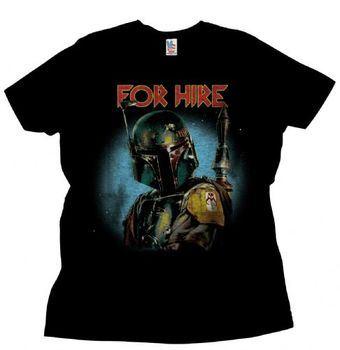 Junk Food Star Wars Boba Fett For Hire Adult Black T-Shirt