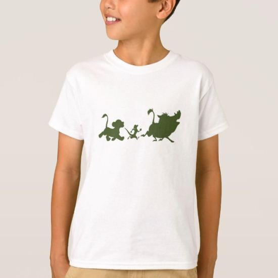 Lion King's Simba, Timon, and Pumba Silhouettes T-Shirt