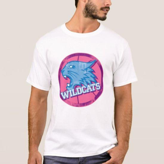 High School Musical Wildcats blue pink logo Disney T-Shirt