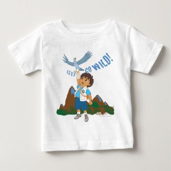 Go Diego Go!   Let's Go Wild! Baby T-Shirt