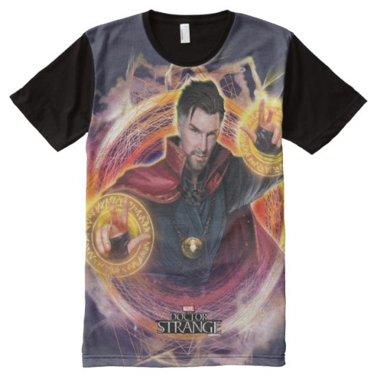 Doctor Strange Mandalas of Light Graphic All-Over Print Shirt