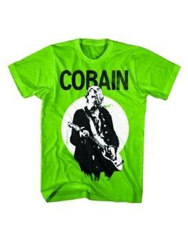Nirvana Kurt Cobain Standing Guitar Photo Men's T-Shirt