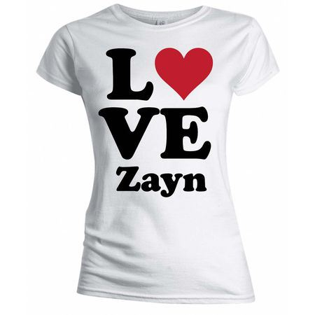 One Direction: One Direction I Love Zayn Skinny T-Shirt - X-Large