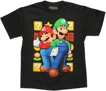 Nintendo Super Mario Luigi Duo Blocks Youth T-Shirt