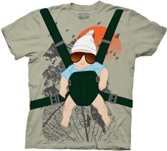 The Hangover Alan Baby Bjorn With Graphic Human Tree Dark Khaki Adult Costume T-Shirt