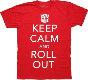 Transformers Autobot Logo Keep Calm and Roll Out T-Shirt Sheer