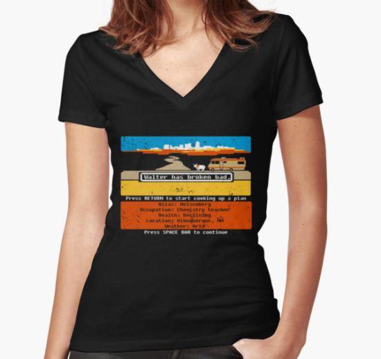 Breaking Trail  Women's Fitted V-Neck T-Shirt by girardin27 T-Shirt