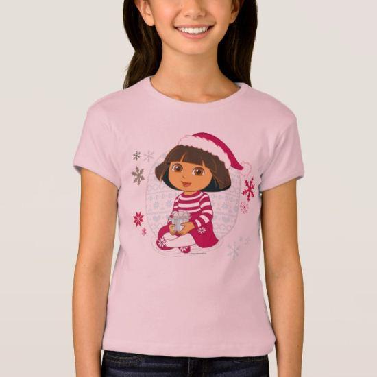 Dora The Explorer | Dora Sitting With Gift T-Shirt