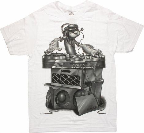 Popeye DJ Mixing T Shirt