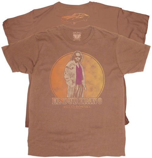 The Big Lebowski El Duderino Chestnut Brown T-shirt