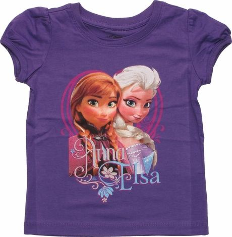 Frozen Anna Elsa Names Purple Toddler T Shirt