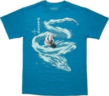 Bleach Toshiro Ice Dragon Attack T-Shirt