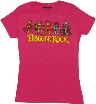 Fraggle Rock Group Line Up Baby Doll Tee