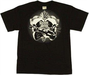 Guitar Hero Leaves Skulls Youth T-Shirt