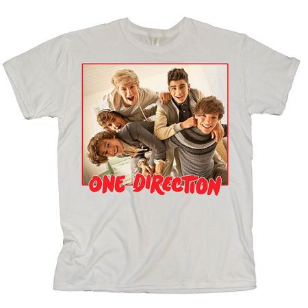 One Direction: One Direction Red Band Photo White T-Shirt