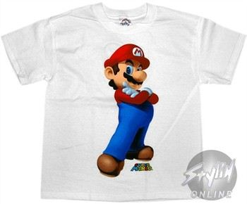 Nintendo Super Mario Arms Crossed Youth T-Shirt