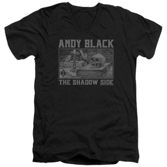 Andy Black Slim Fit V-Neck Shirt The Shadow Side 2 Black T-Shirt