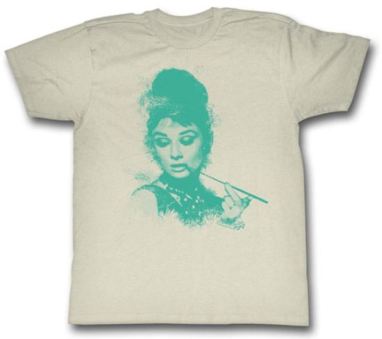 Audrey Hepburn Shirt Profile Adult Cream Tee T-Shirt