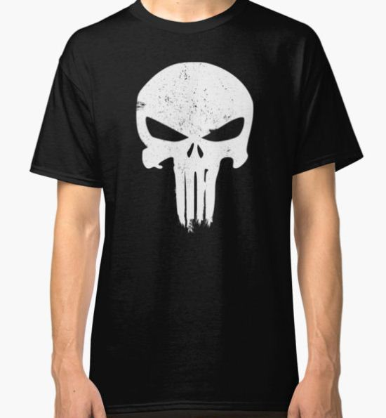 Punisher Skull Classic T-Shirt by ethantaylor T-Shirt