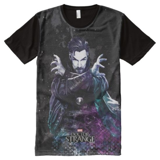 Doctor Strange Dark Watercolor Character Art All-Over Print Shirt