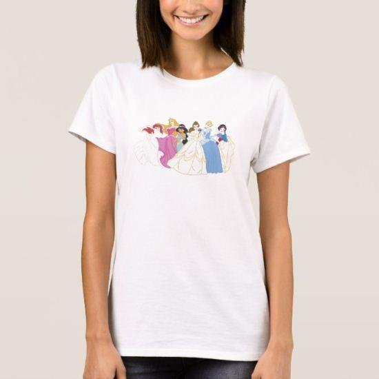 Six Disney Princesses T-Shirt