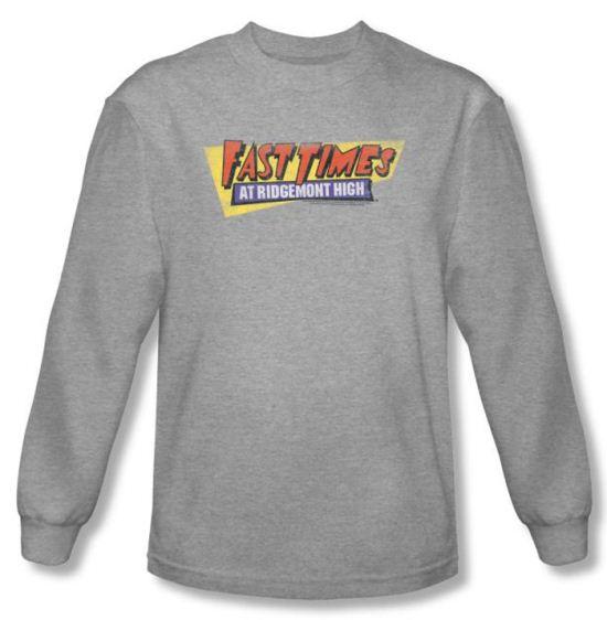 Fast Times At Ridgemont High Shirt Logo Heather Long Sleeve Tee