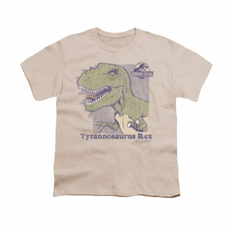 Jurassic Park Retro Rex Youth T Shirt