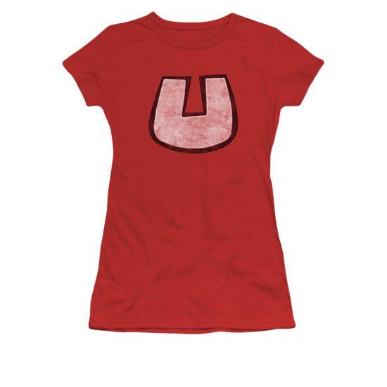 Underdog Shirt U Crest Juniors Red Tee T-Shirt