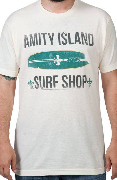JAWS Amity Island Surf Shop Shirt