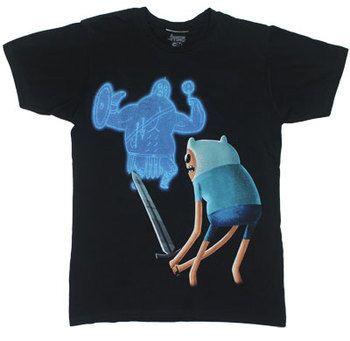 Finn Vs. Ghost Warrior - Adventure Time T-shirt