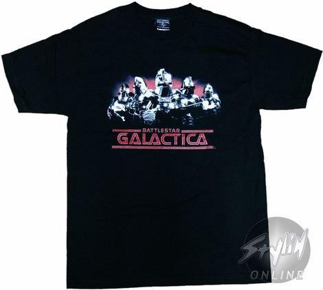 Battlestar Galactica Cylon Lineup T-Shirt