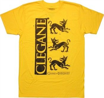 Game of Thrones House Clegane Three Dogs Sigil T-Shirt Sheer