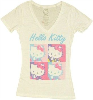 Hello Kitty Squares Jack of All Trades Baby Doll Tee