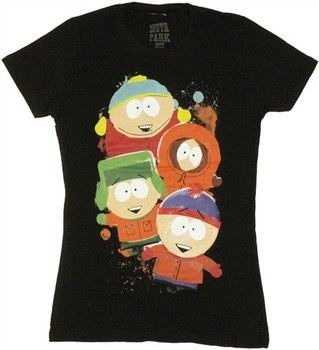 South Park Boys Collage Baby Doll Tee