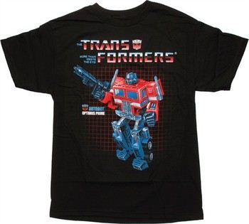 Transformers Optimus Prime G1 Box Art T-Shirt