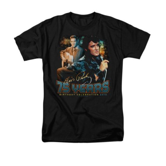 Elvis Presley Shirt 75 Year Birthday Black T-Shirt
