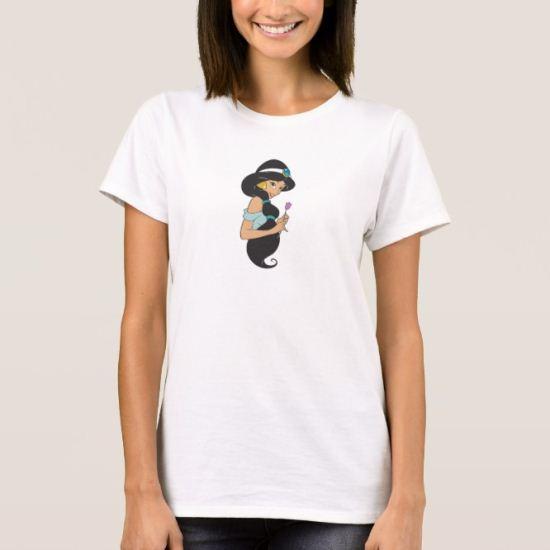 Aladdin Jasmine holding purple flower tulip T-Shirt