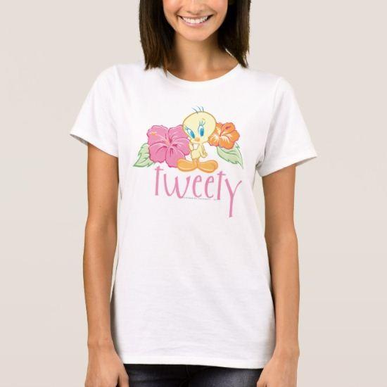 Tweety Tropical Flowers T-Shirt