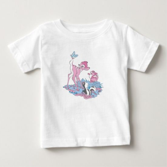 Bambi, Thumper, and Flower with Butterfly Baby T-Shirt
