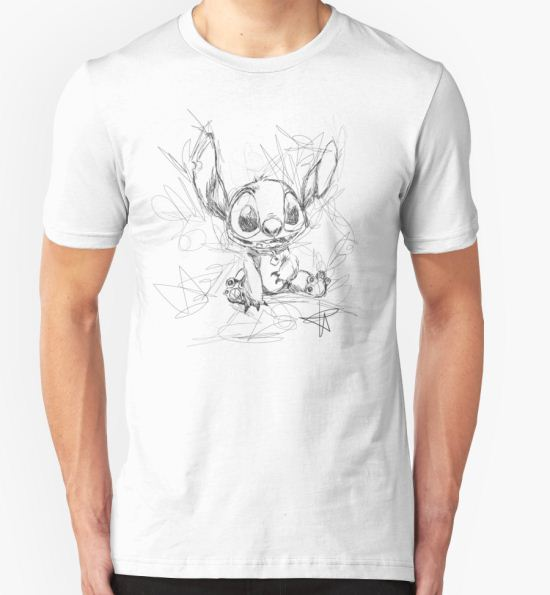 Stitch Scribble T-Shirt by Frankie Taylor T-Shirt