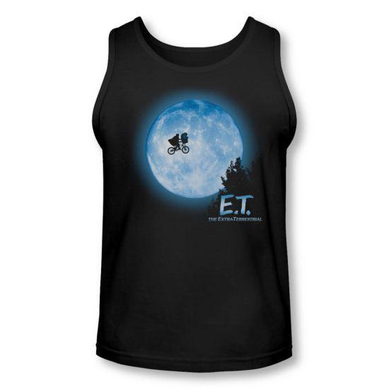 ET Shirts - Extra Terrestrial Tank Top Moon Scene Black Tanktop
