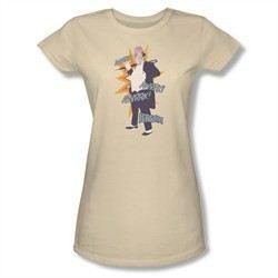 Classic Batman Shirt Juniors Penguin Cream T-Shirt