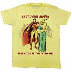 Flash Gordon T-Shirt Movie Shut It Adult Yellow Tee Shirt