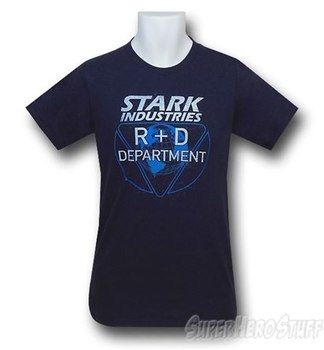 Iron Man Stark R & D Dept. 30 Single T-Shirt